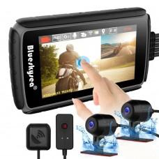"Camera moto duala Blueskysea DV988 Pro, senzori 2 x Sony IMX307, Wifi, display  4"""