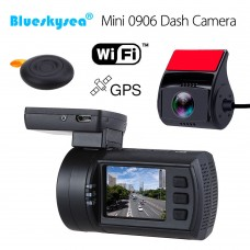 Mini 0906 Pro Dual Camera, senzori Sony IMX327+Sony IMX291, Wifi , 1080P, GPS, Telecomanda Wireless, Super Capacitor