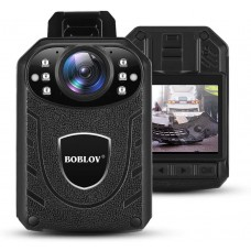 Camera video corporala Body Camera Boblov KJ21, rezolutie 2K, nightvision, leduri IR