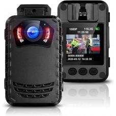 Camera video corporala Body Camera BOBLOV N9,  2K, nightvision, leduri IR, autonomie 8 ore, nightvision, leduri IR