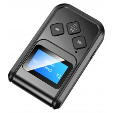 Adaptor Bluetooth MinTech T-15, transmitator si receptor, display, acumulator cu autonomie 8 ore,BT5.0