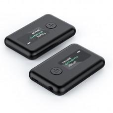 Adaptor Bluetooth MinTech WT2, transmitator si receptor, acumulator 250mah, BT5.0, display