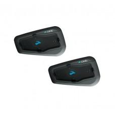 Sistem de comunicare moto Cardo Freecom 2 + Plus Dual Pack, Conferinta de pana la 2 rideri simultan, distanta 500m