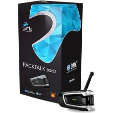 Sistem de comunicare moto Cardo PackTalk Bold Single Pack, Difuzoare JBL, Conferinta de pana la 15 rideri simultan, distanta 1,6KM (pana la 8KM maxim)