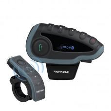 Sistem de comunicare moto EJEAS V8 conversatie de pana la 5 rideri simultan, Telecomanda, NFC, Bluetooth, FM Radio