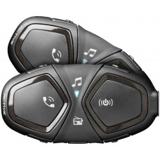Sistem de comunicare moto Interphone Active Dual Pack FM, Conferinta de pana la 4 rideri simultan, distanta 1Km