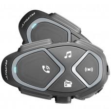 Sistem de comunicare moto Interphone Avant Dual Pack, FM, Conferinta de pana la 8 rideri simultan, distanta 1,7Km