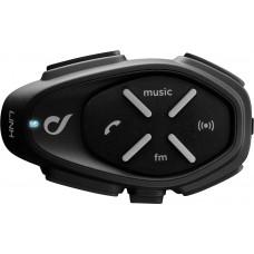 Sistem de comunicare moto Interphone Link Single Pack FM, Conferinta de pana la 2 rideri simultan, distanta 300m
