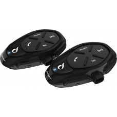 Sistem de comunicare moto Interphone Sport Dual Pack FM, Conferinta de pana la 4 rideri simultan, distanta 1Km