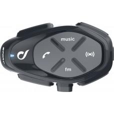 Sistem de comunicare moto Interphone Sport Single Pack FM, Conferinta de pana la 4 rideri simultan, distanta 1Km
