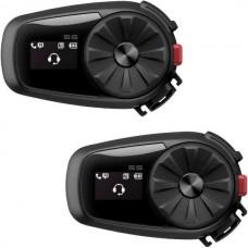 Sistem de comunicare moto intercom Sena 5S Dual Pack, Conferinta de pana la 2 rideri simultan, distanta 700m