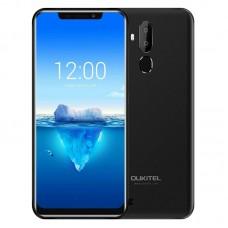 """Telefon Mobil Oukitel C12 Pro 6.18"""" 19:9 Android 8.1 Mobile Phone MT6739 Quad Core 2G RAM 16G ROM Fingerprint 4G 3300mAh"""