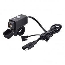 Priza moto Auto Road AR-0-181-01D, DUAL USB, 3.1 A