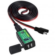 Priza moto Auto Road AR0-18, DUAL USB, Voltmetru, Fast Charge 2 x 2.4A