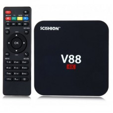 Mini PC Android TV Box SCISHION V88 + Telecomanda, Rockchip 3229 Quad Core, 1GB RAM, 8GB ROM