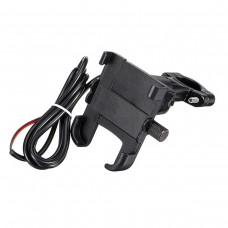 Suport telefon Autoroad ARS-M13-1 cu priza USB de 2A, constructie aluminiu