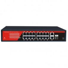 Switch Winpossee WP-P2018GF POE+ 16 canale 300W 10/100/1000 Mb/s +1 port fibra optica