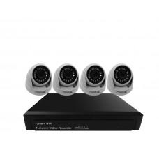 Sistem de supraveghere interior POE Digital Winpossee WP-7104D FullHD 1080P, 4 x camere IP Dome POE 2 MP,senzor SC2235 , IR 25m