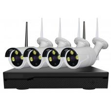 Sistem de supraveghere exterior Wireless Digital Winpossee WP-WB6104TA FullHD 1080P, 4 x camere WIFI 2 MP,senzor SC2235,  IR 25m