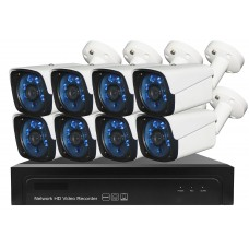 Sistem de supraveghere exterior POE Digital Winpossee WP-7108T FullHD 1080P, 8 x camere Bullet IP POE 2 MP,senzor SC2235 , IR 25m