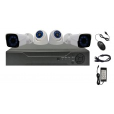 Sistem de supraveghere interior & exterior Analogic Winpossee WP-AH4404TB FullHD 1080P, 2 x camere Bullet & 2 x camere Dome  2 MP,senzor SC2235, IR 25m