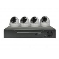 Sistem de supraveghere interior Analogic Winpossee WP-AH4404TD FullHD 1080P, 4 x camere Dome 2 MP,senzor SC2235, IR 25m